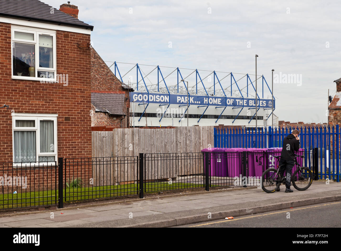 Documentary pictures Everton FC, Goodison to Liverpool FC, Anfield, Liverpool, England Stock Photo
