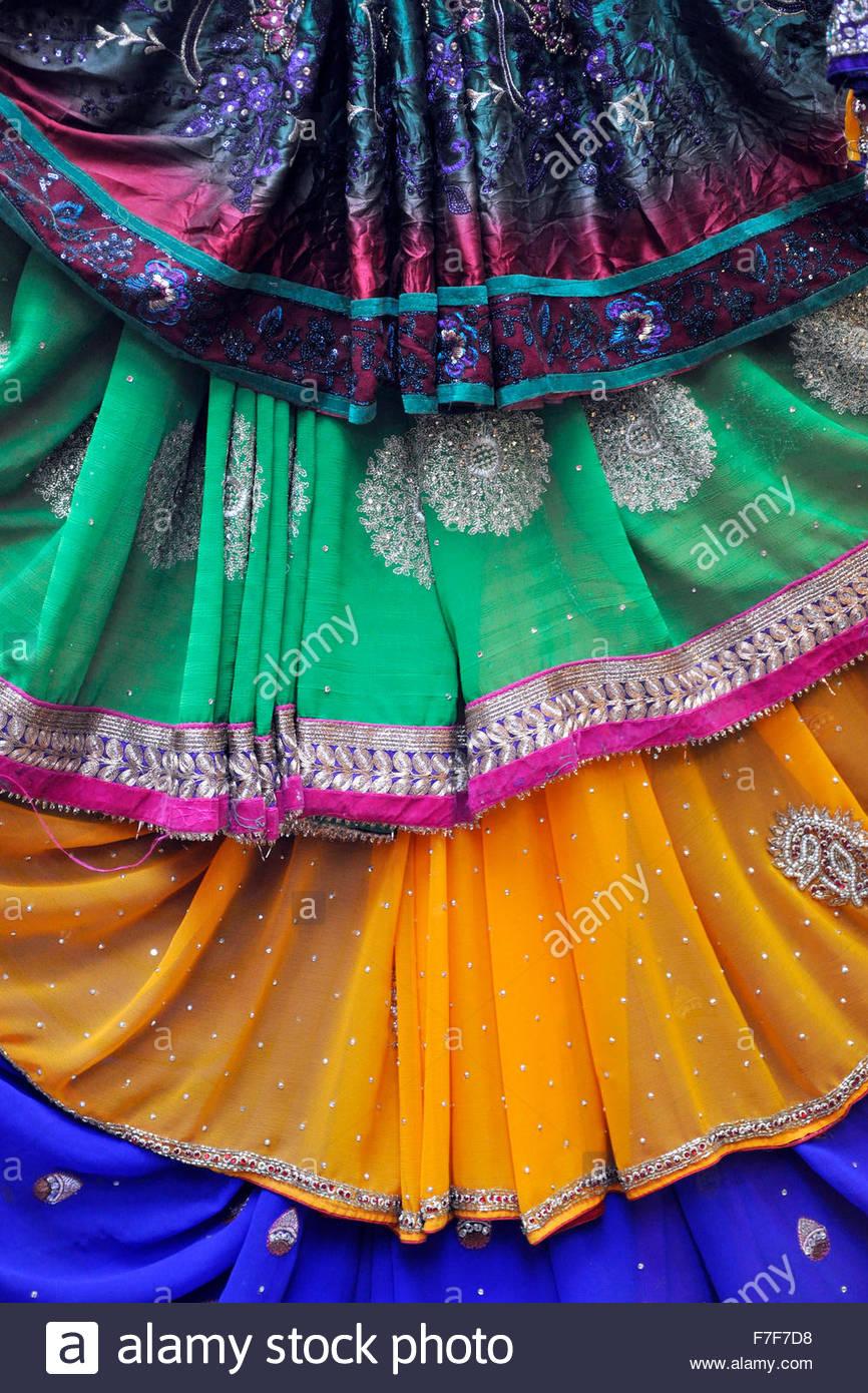 Gujarat,Bhavnagar,traditional tissue - Stock Image