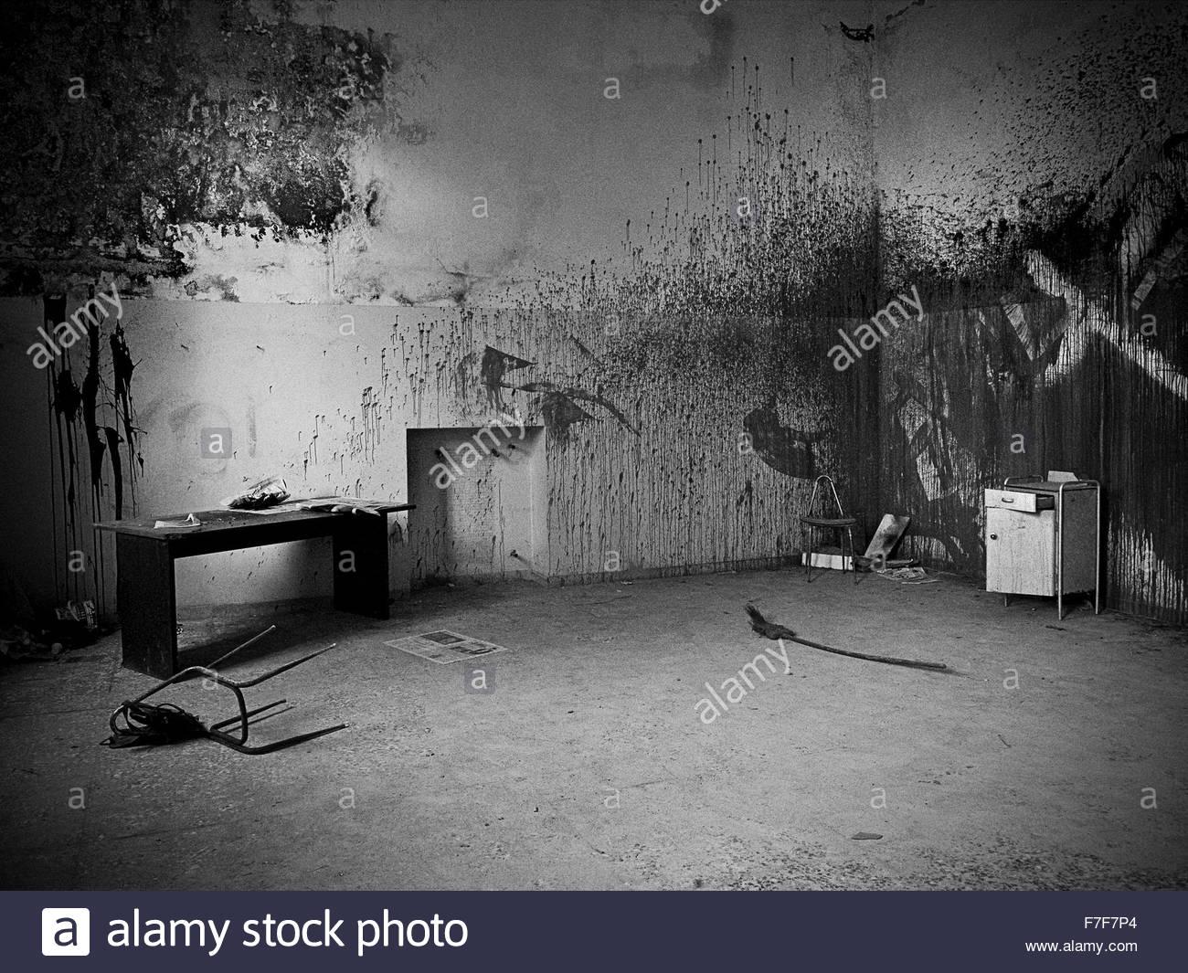 former psychiatric hospital giuseppe antonini,mombello mental hospital,villa pusterla-crivelli,limbiate - Stock Image