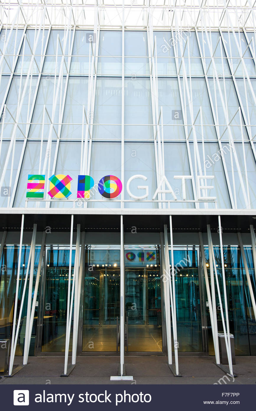 expo gate,milan Stock Photo