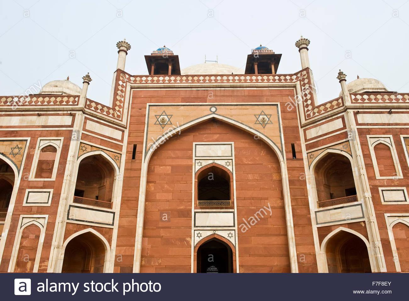 humayun tomb,new delhi,india - Stock Image