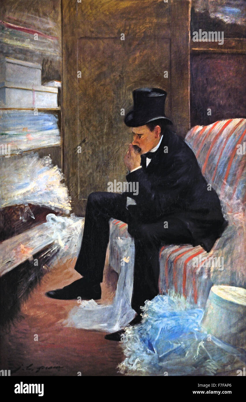 Le Veuf - the Widower Jean Louis Forain 1852-1931 France French - Stock Image