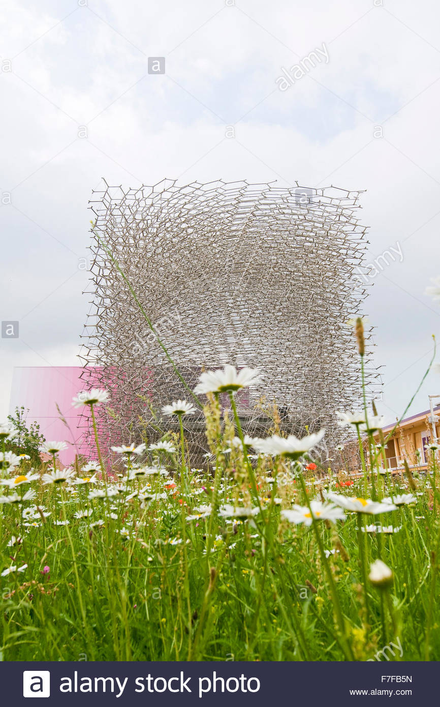 pavilion of the United Kingdom,the issue of participation 'grown in Britain,shared globally',expo milano - Stock Image