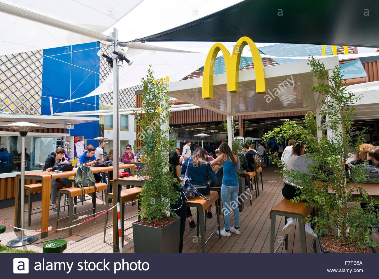 McDonald,expo milano 2015 - Stock Image