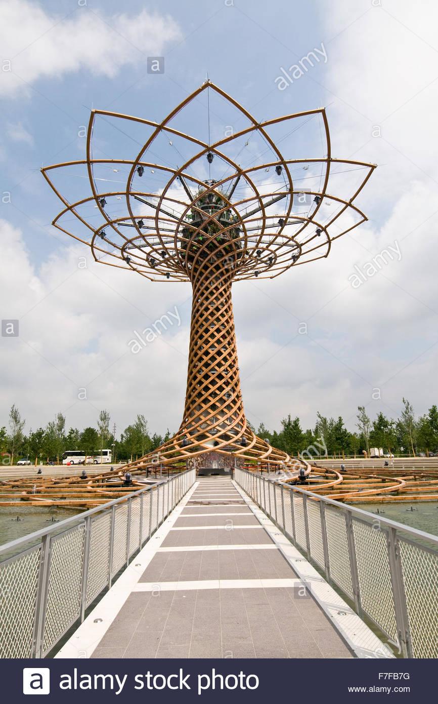 tree of life,symbol of italian pavilion,expo milano 2015 - Stock Image