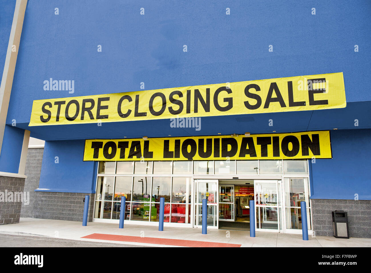 Bankruptcy Liquidation Sale - Stock Image