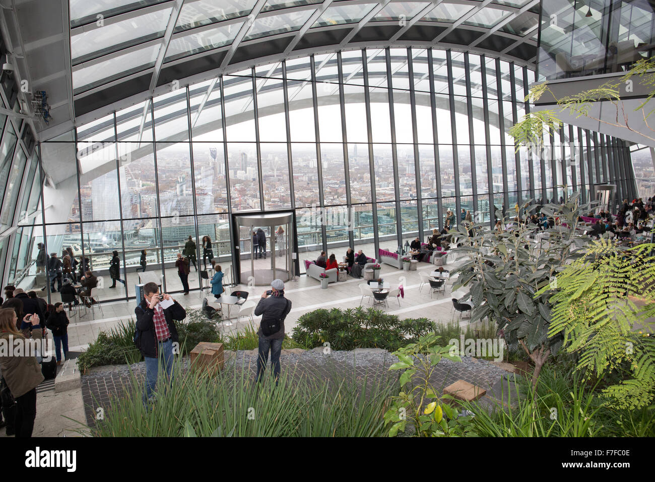 Inside the Skygarden at 20 Fenchurch Street London Stock