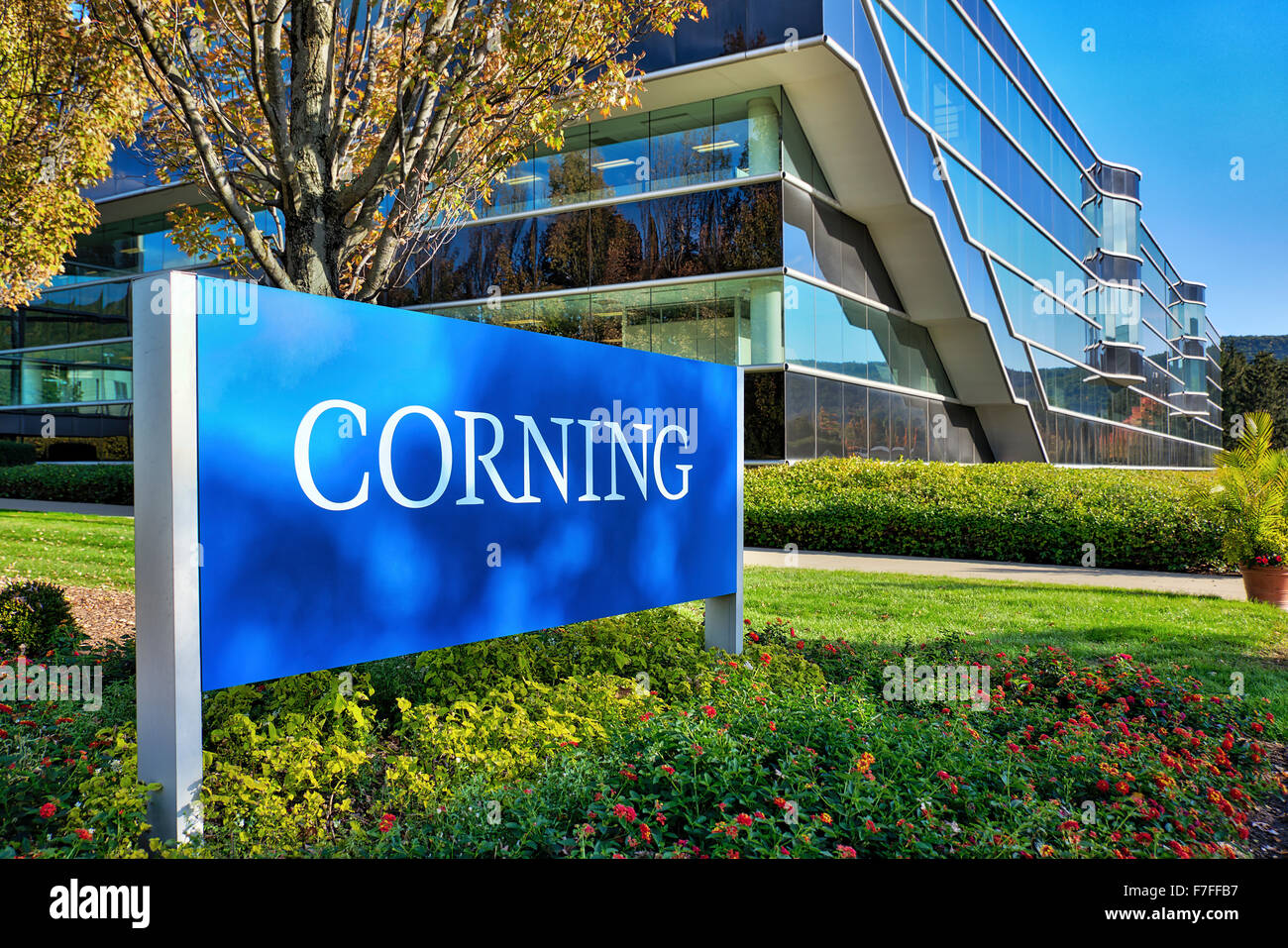 Corning Inc. Headquarters, Steuben County, New York, USA - Stock Image