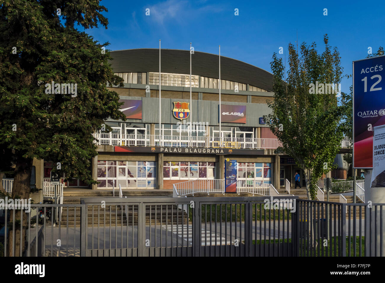 Exterior of the sporting venue, Palau Blaugrana, Camp Nou, Barcelona, Catalonia, Spain - Stock Image