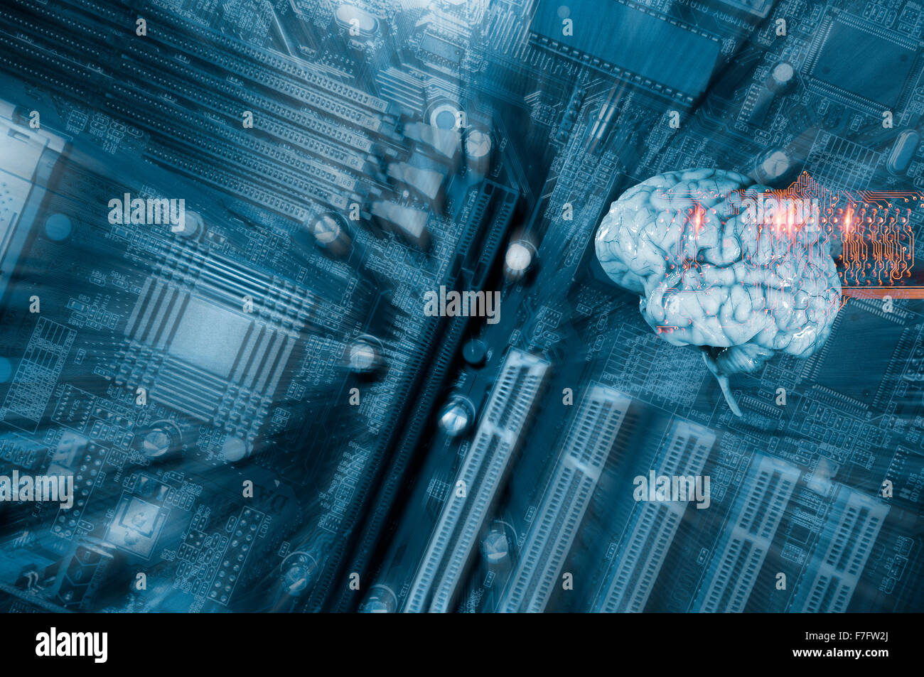 Human brain and communication - Stock Image