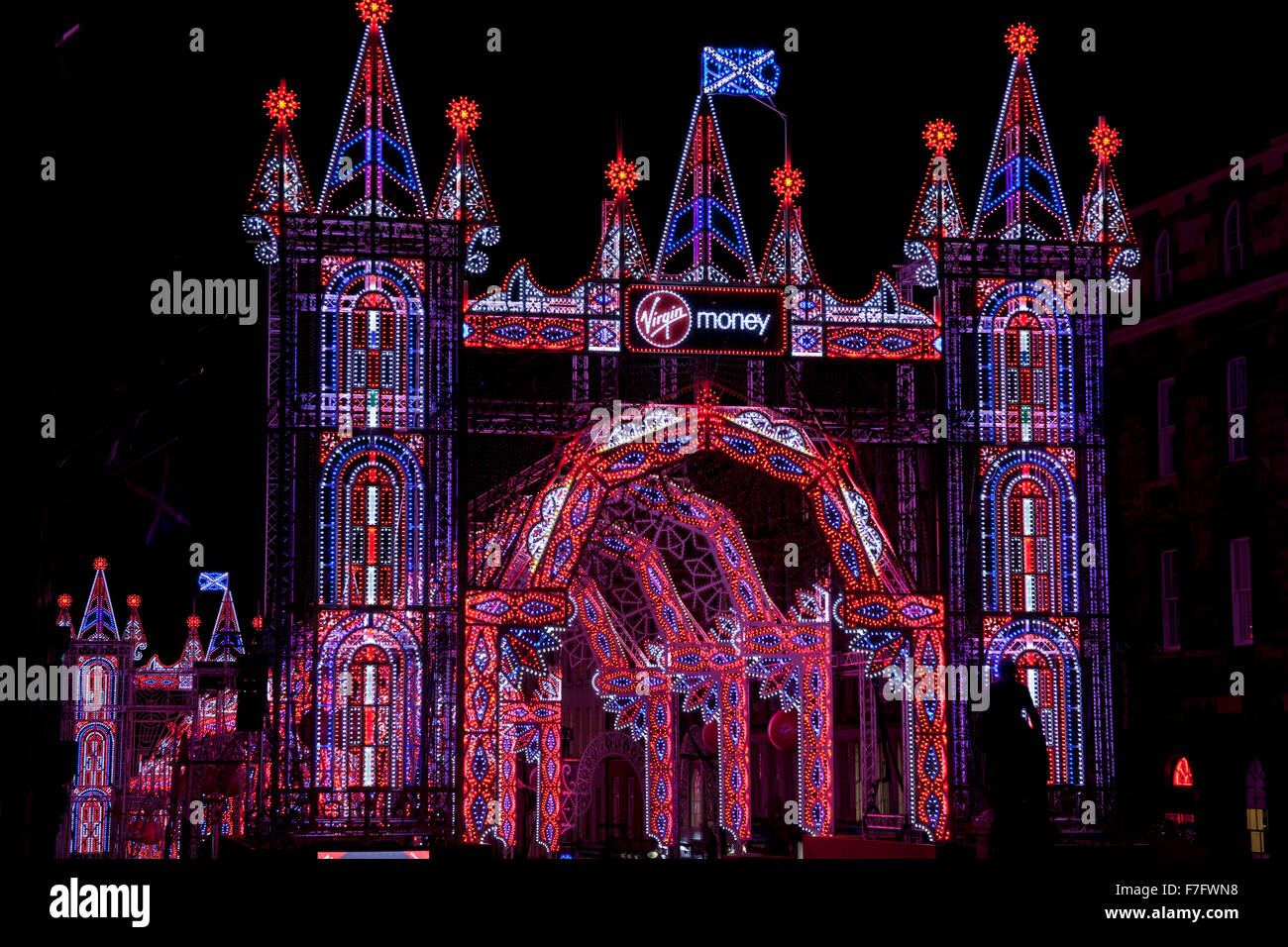 Edinburgh, Scotland, UK. 30th November, 2015. UK Free tickets are now available for the incredible Virgin Money - Stock Image
