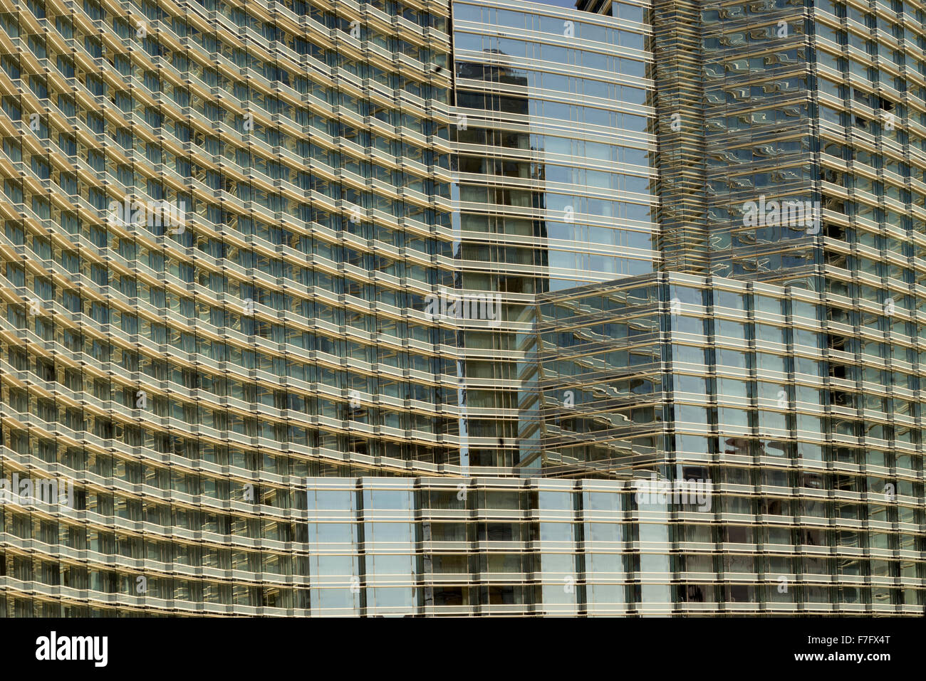 Hotel windows in Las Vegas, Nevada - Stock Image