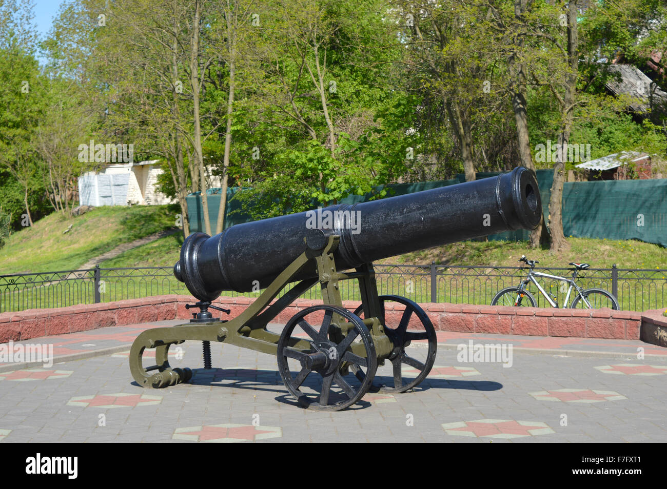 Cannon in Brest - Stock Image