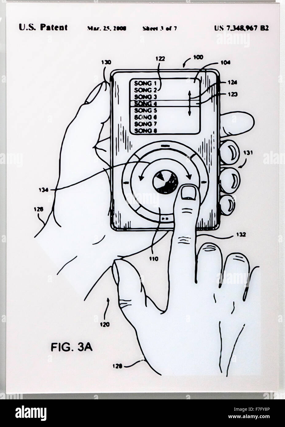 ipod classic us patent diagram circa 2006 F7FY8P ipod classic us patent diagram, circa 2006 stock photo 90705126 alamy