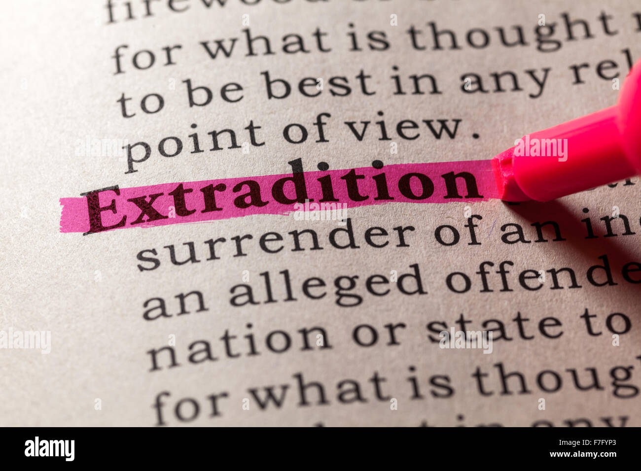 Dictionary Definition Of The Word Extradition