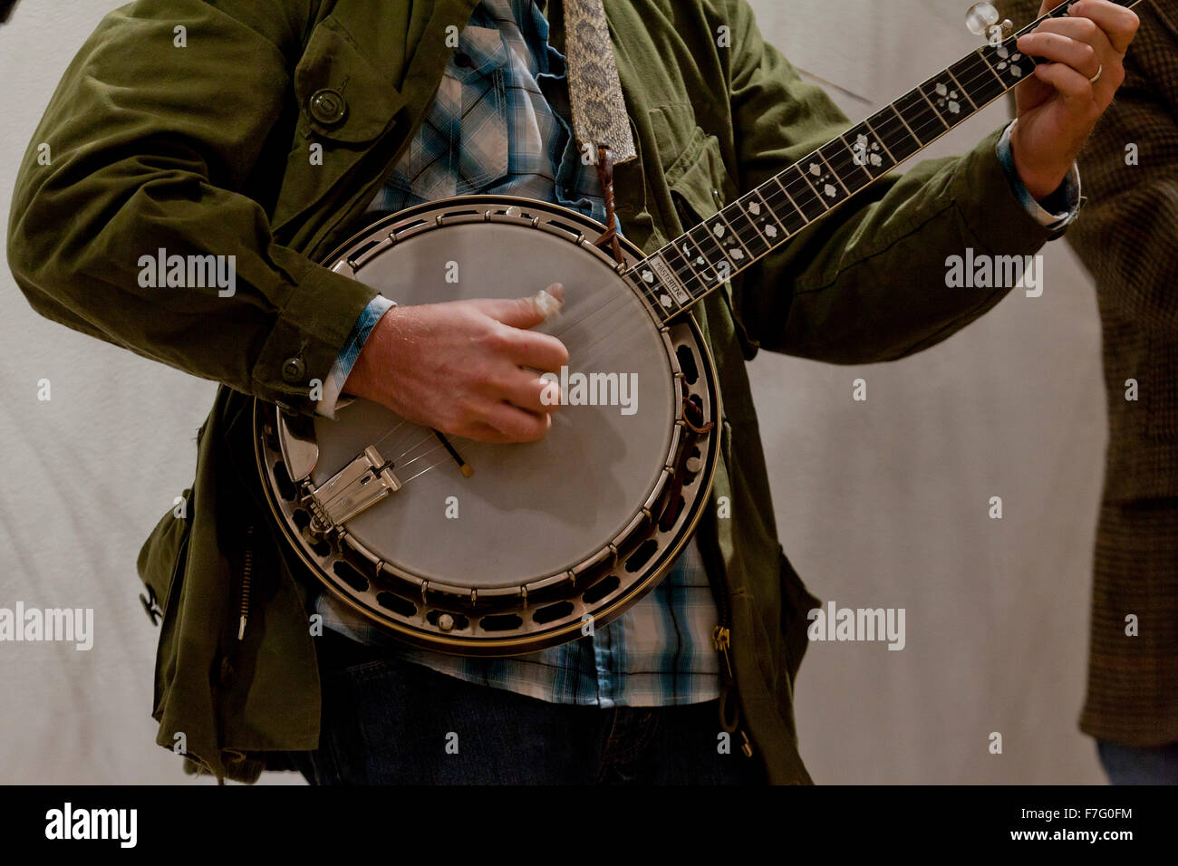 Banjo player - USA - Stock Image