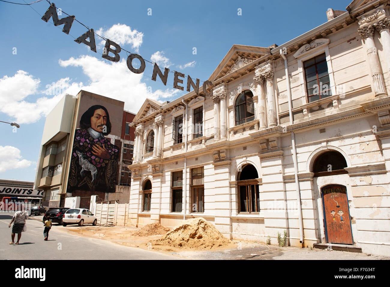 The Maboneng Precinct neighbourhood in downtown Johannesburg, South Africa. - Stock Image