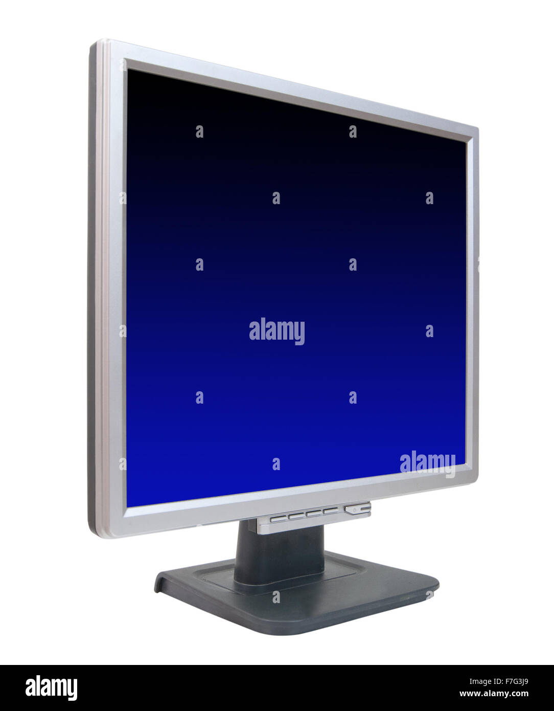 LCD monitor. Isolated on white background with clipping path - Stock Image