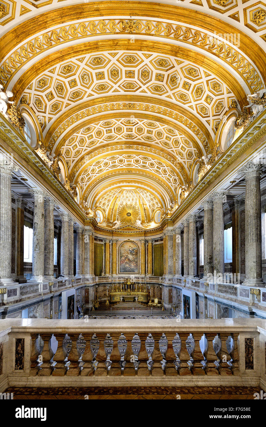 Italy Campania Caserta Royal Palace ( Reggia ) The Palatine Chapel Stock Photo