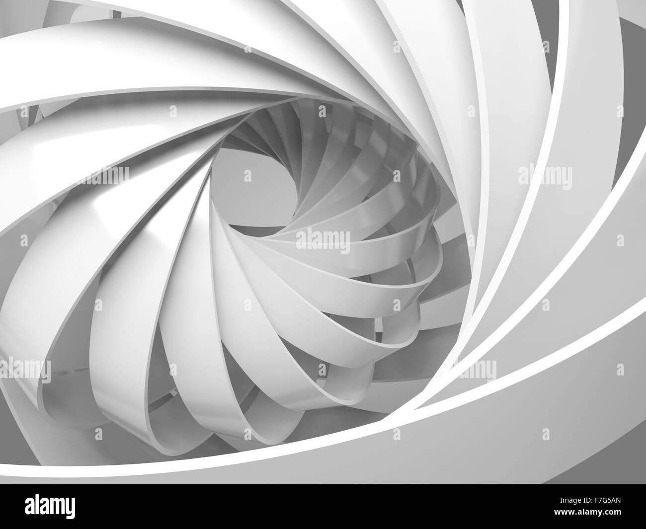 Abstract digital background with round 3d spiral structure - Stock Image