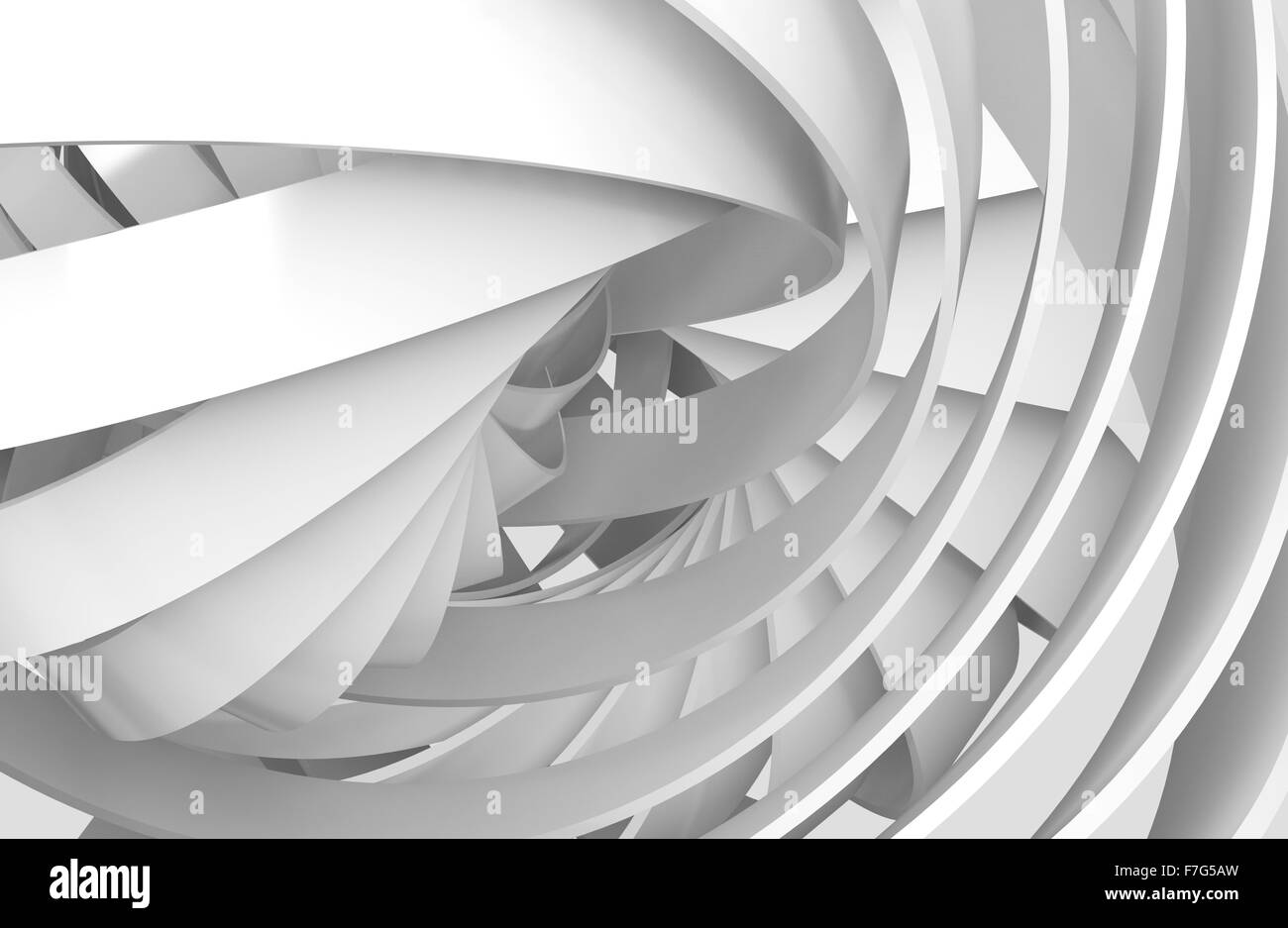 Abstract digital background with 3d spiral structures - Stock Image