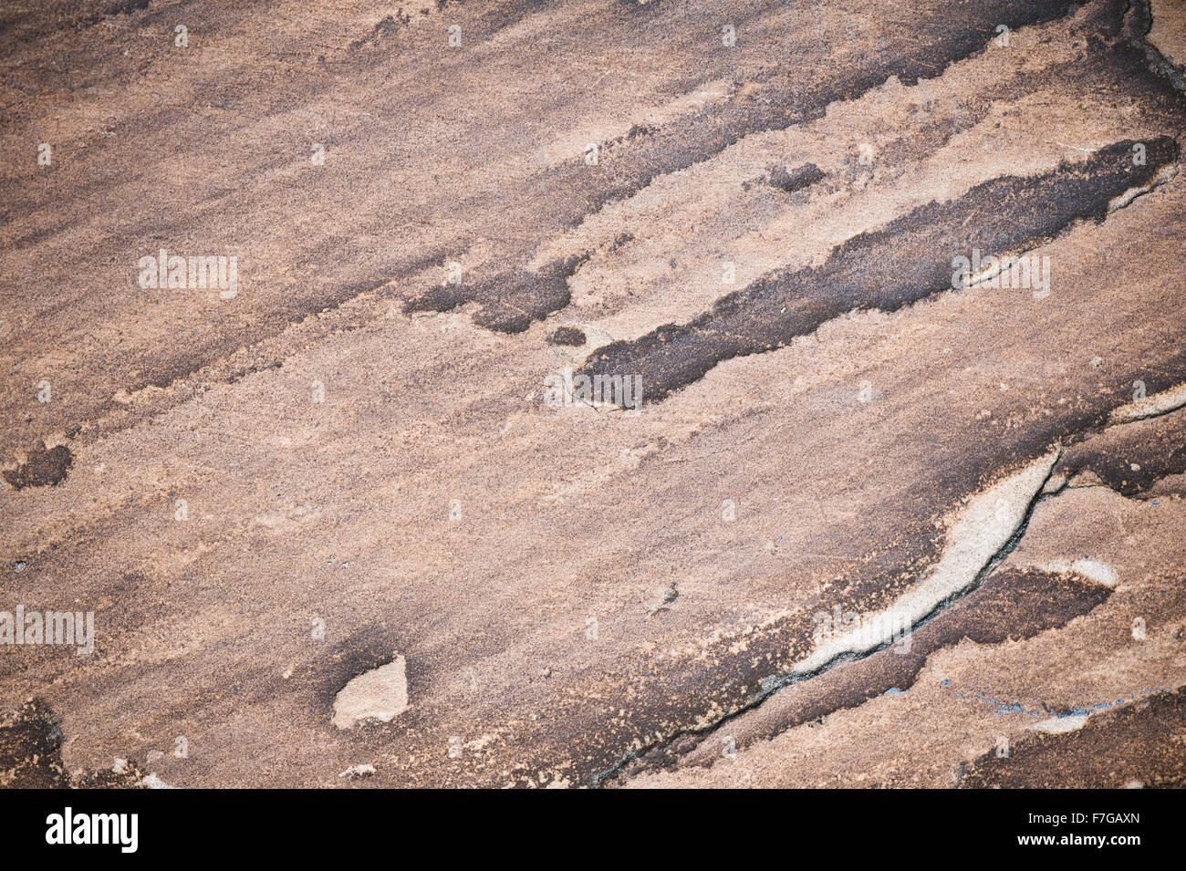 Stone brown color abstract, colored rock texture, wall surface background in horizontal orientation, nobody, ... - Stock Image