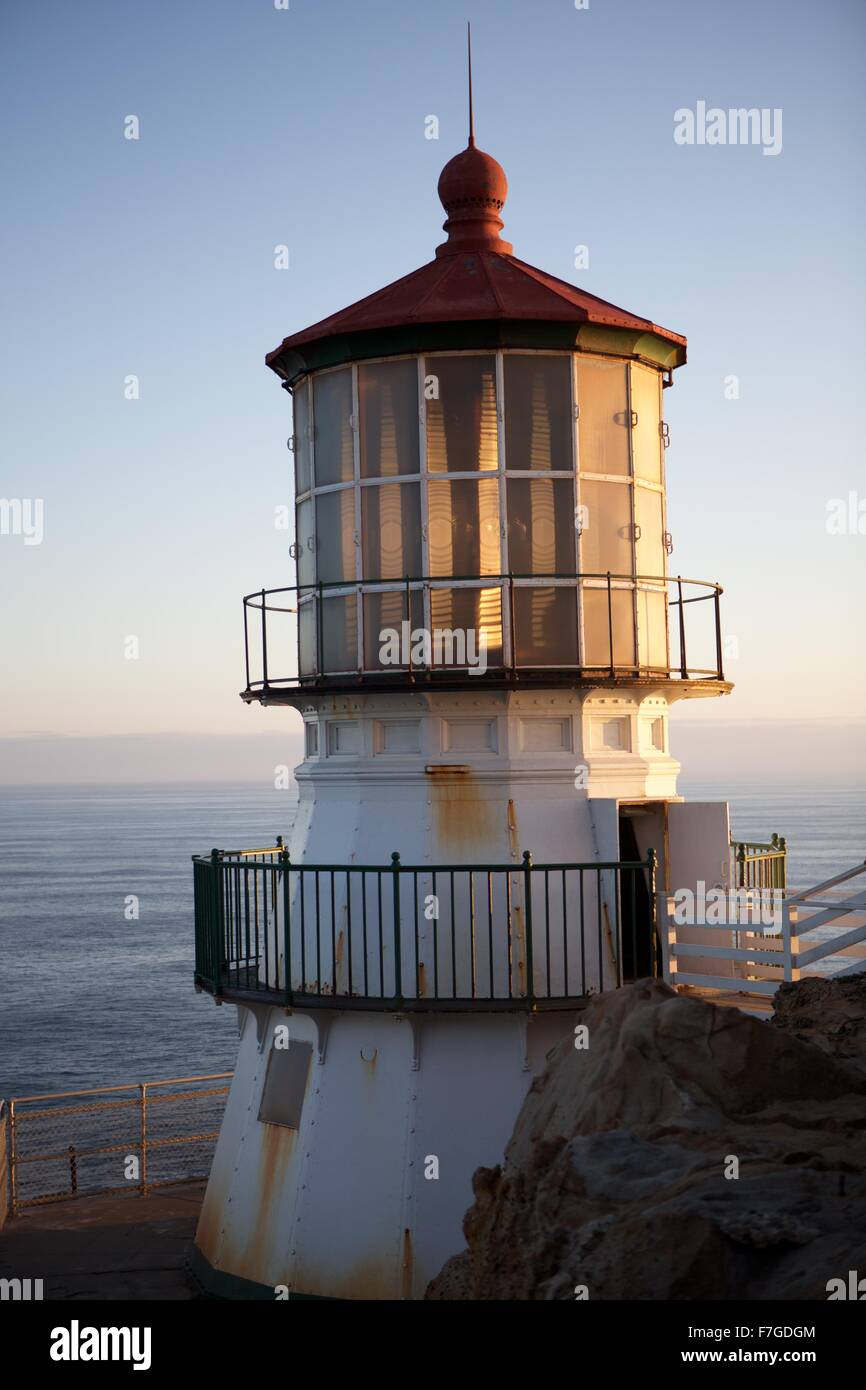 The lighthouse at Point Reyes National Seashore. - Stock Image