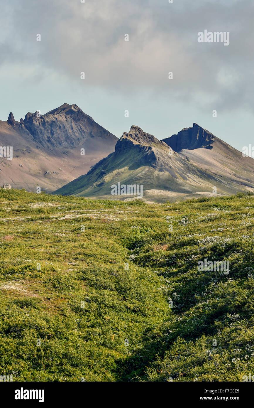 Kristinartindar Mountains, Vatnajokull National Park, Iceland - Stock Image