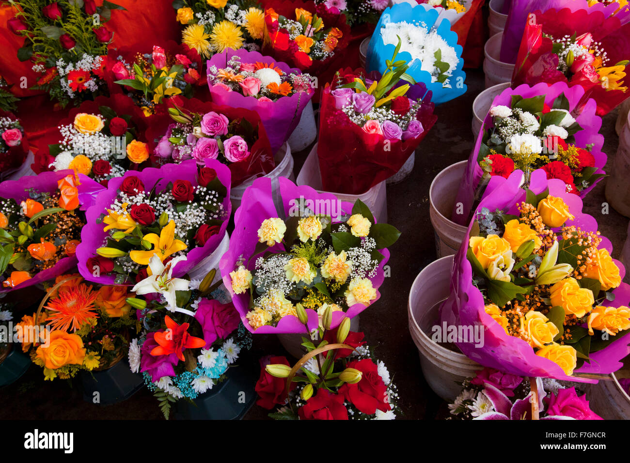 Flower District Downtown Los Angeles California Stock Photo