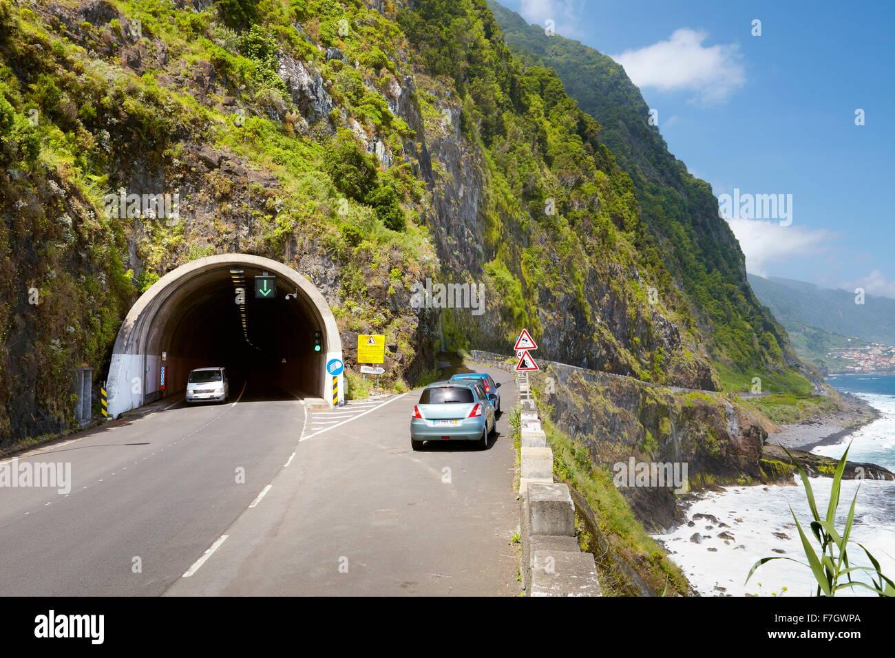 Tunnel near Ponta Delgada, Madeira Island, Portugal - Stock Image