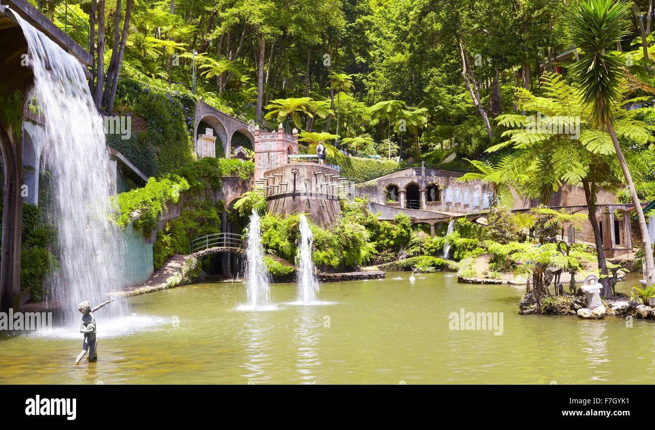 Monte Palace Tropical Garden (Japanese garden) - Monte, Madeira Island, Portugal - Stock Image