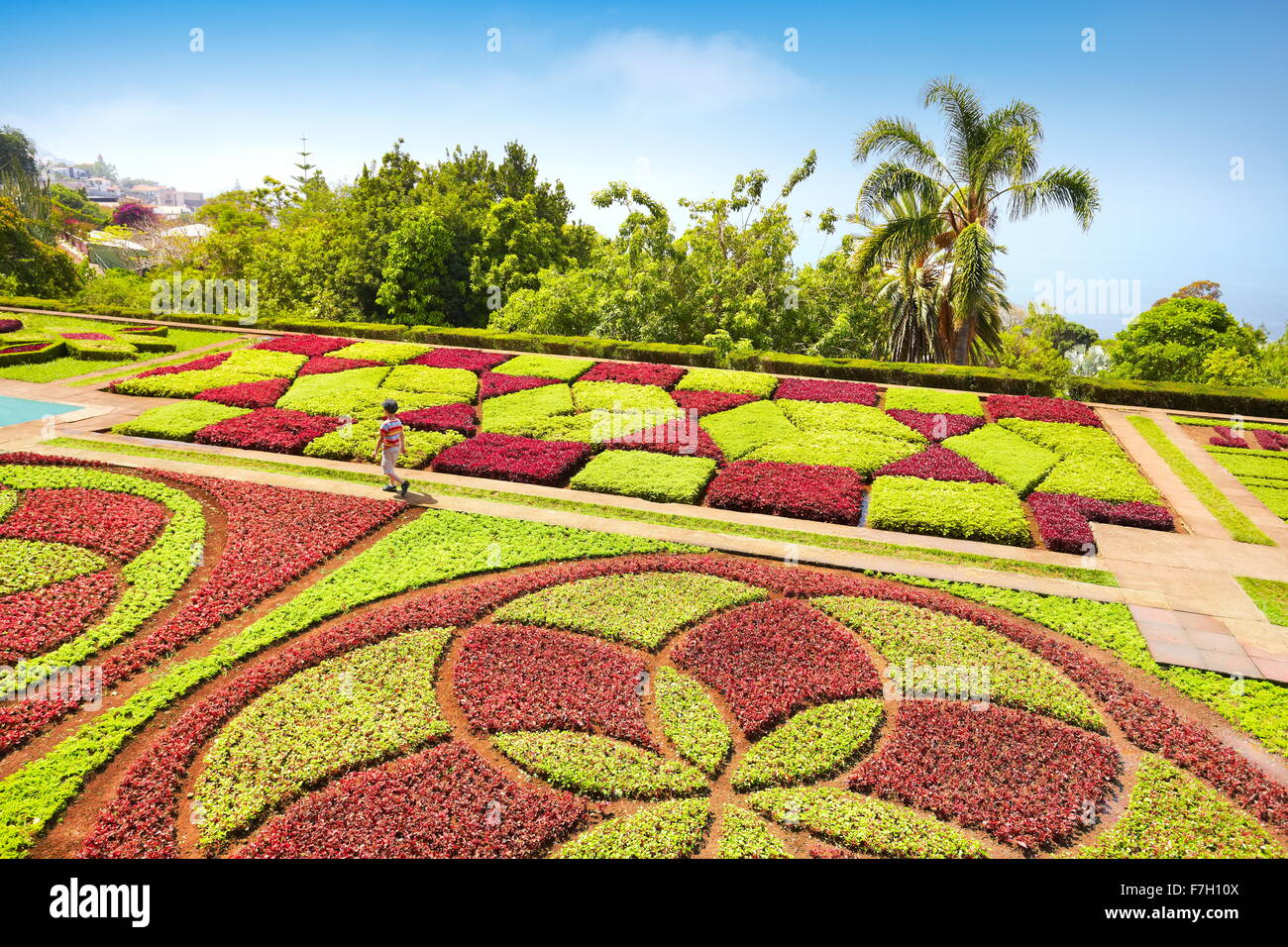 The Madeira Botanical Garden - Funchal, Madeira, Portugal - Stock Image