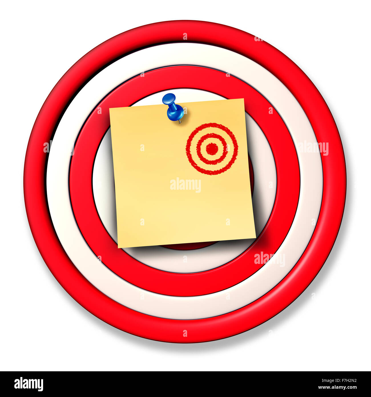 Changing the rules of the game business concept as a dart target board and a paper office note with a small drawing - Stock Image