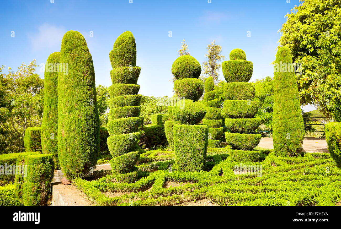 The Madeira Botanical Garden - Funchal, Madeira Island, Portugal Stock Photo