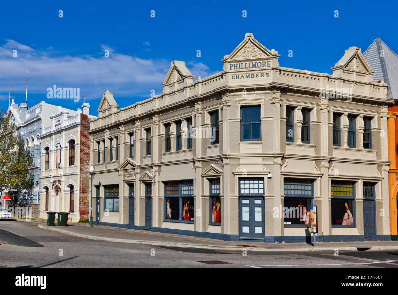Australia, Western Australia, Fremantle, heritage buildings in the West End Conservation area, Phillimore Chambers - Stock Image
