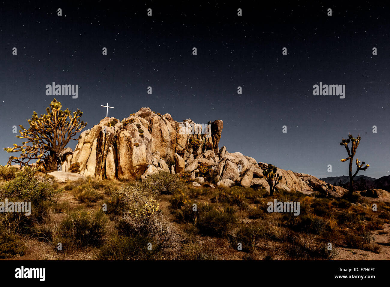 WWI Memorial shines in the moonlight - Stock Image