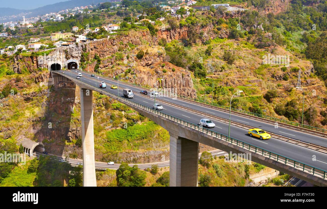 Highway 'Via Rapida', Funchal, Madeira Island, Portugal - Stock Image