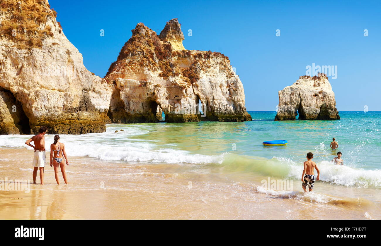 Prainha Beach near Alvor, Algarve, Portugal Stock Photo