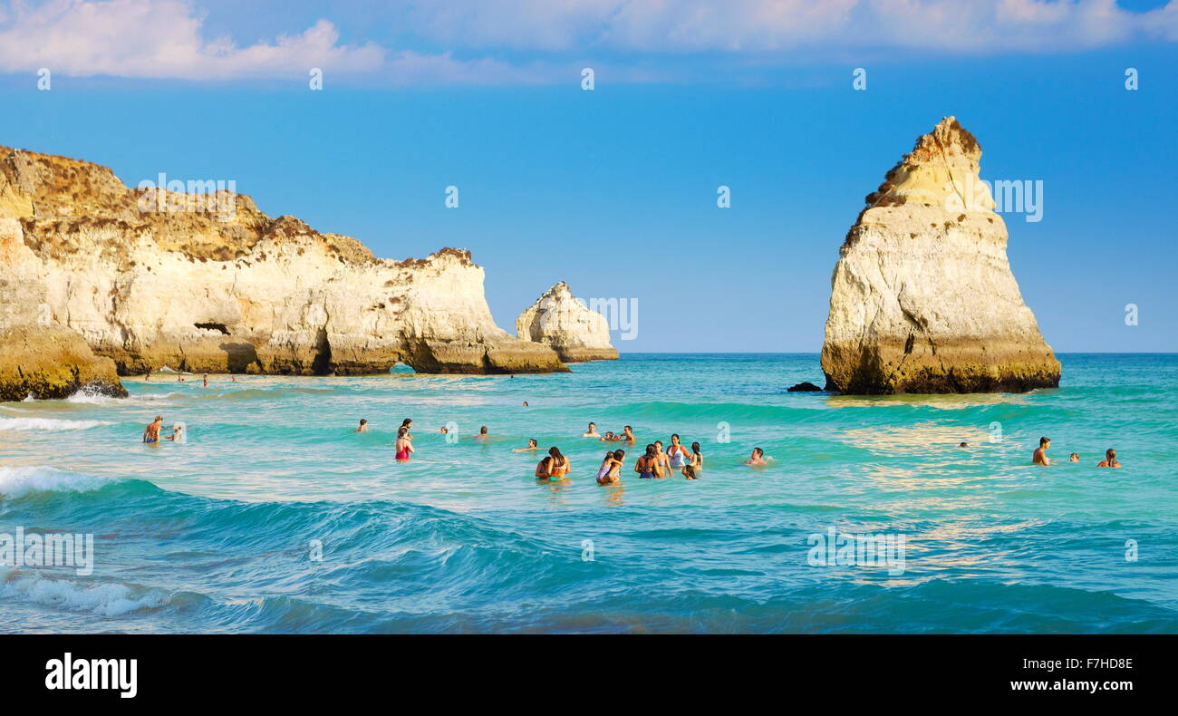 Prainha Beach near Alvor, Algarve, Portugal - Stock Image