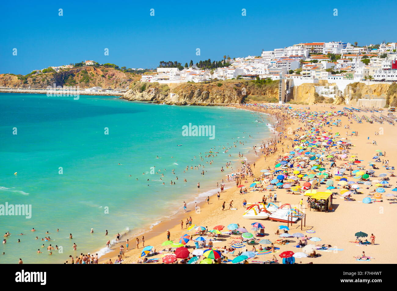 Albufeira Beach, Algarve coast, Portugal Stock Photo
