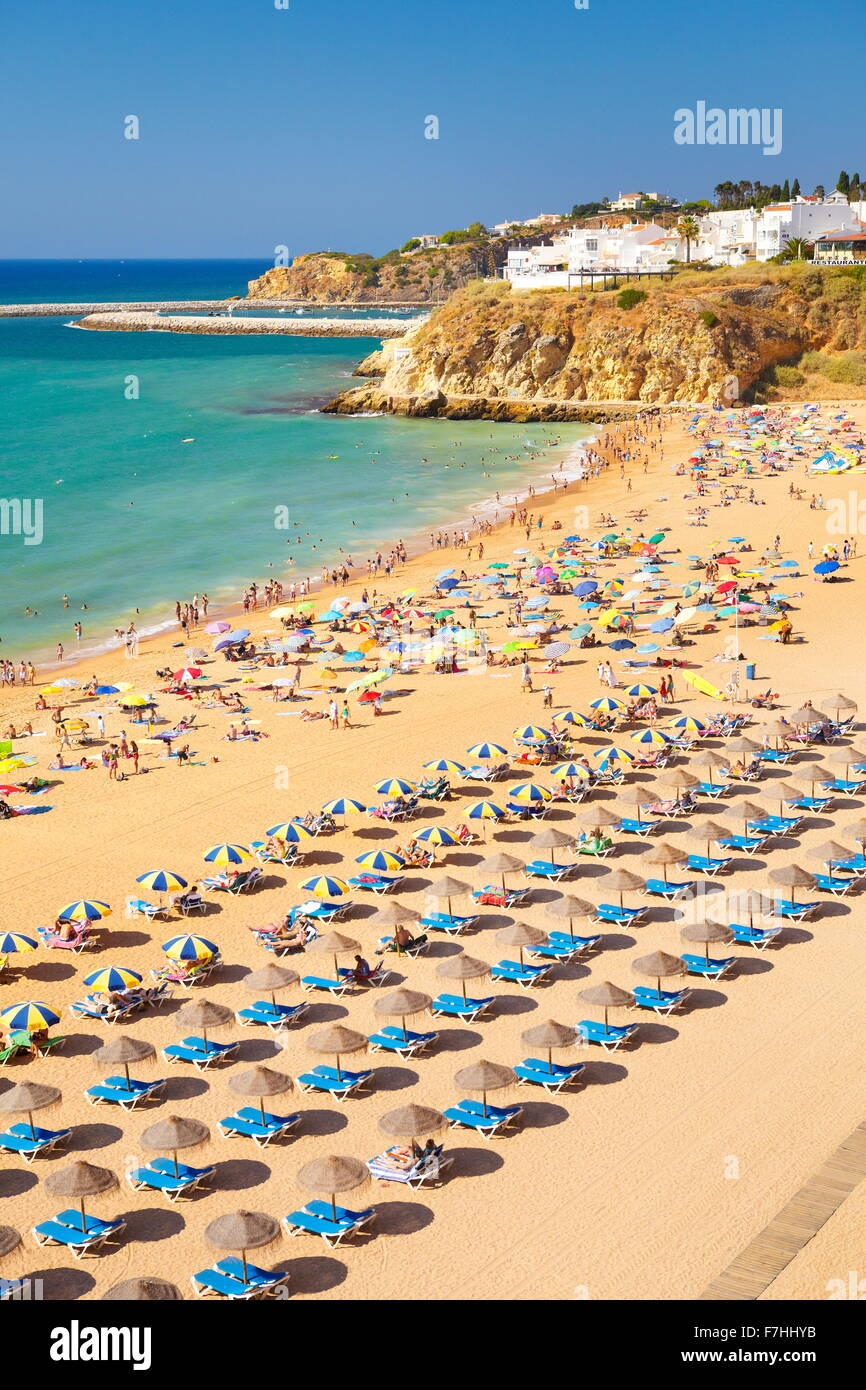 Albufeira Beach, Algarve coast, Portugal - Stock Image