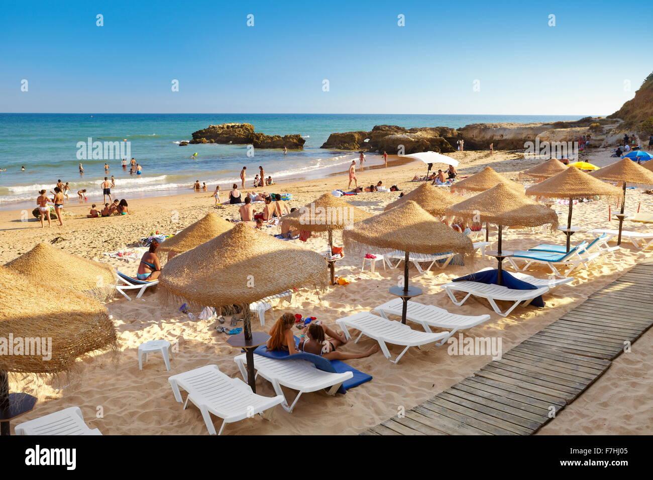 Albufeira Beach, Algarve coast, Portugal Stock Photo
