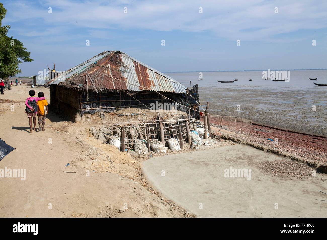 COX's BAZAR, BANGLADESH - November 29: View of Climate Change and Sea Level Raise area in Kutubdia Island on - Stock Image