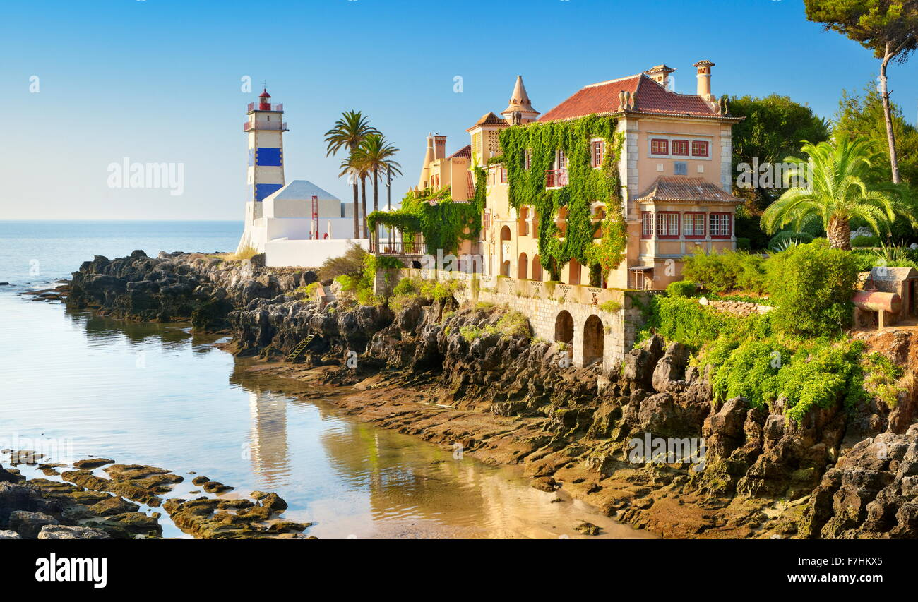 Lighthouse, Cascais, Portugal - Stock Image