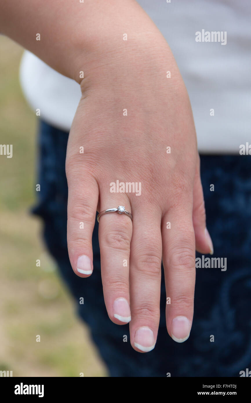 Gold Ring Hand Woman Stock Photos & Gold Ring Hand Woman Stock ...