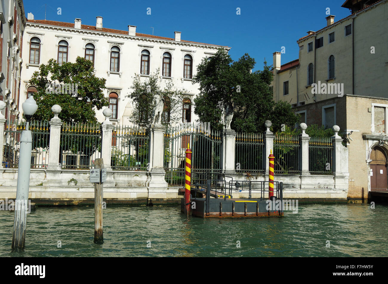 Venice, Italy, Grand Canal Casino and its gardens Stock Photo