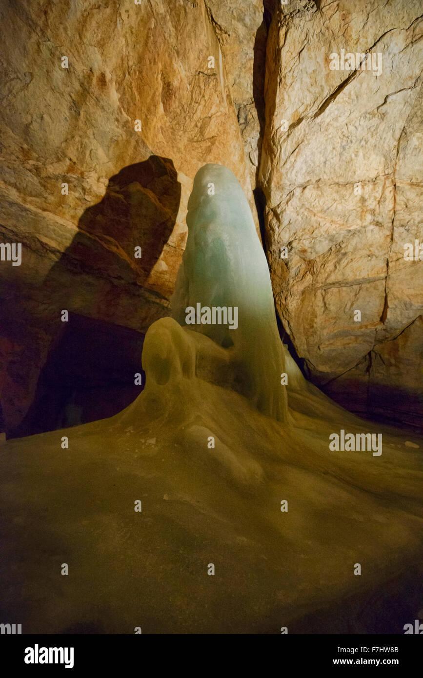 The Dachstein Ice cave in Obertraunen, Salzkammergut, Austria - Stock Image