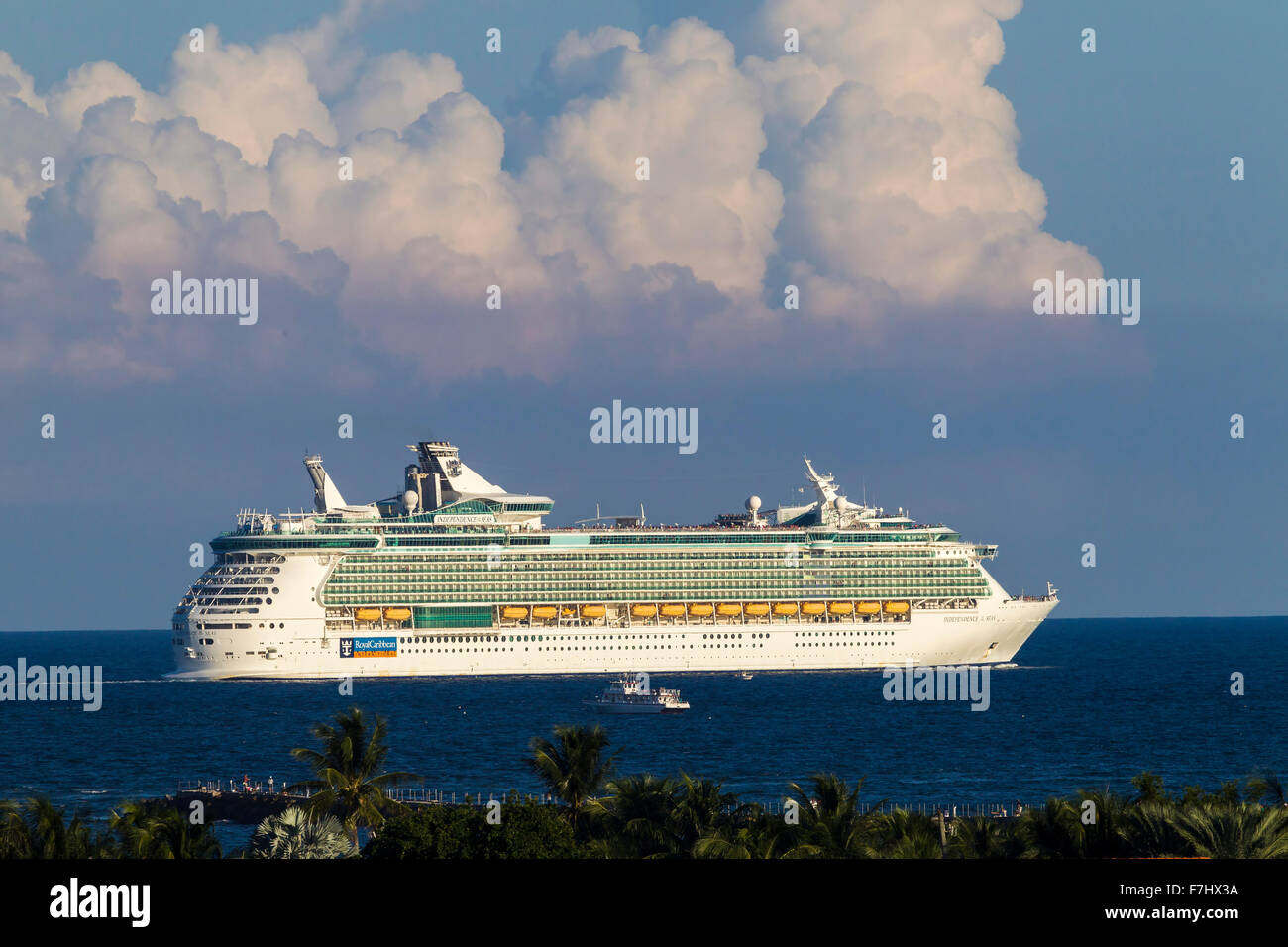Independence of the Seas after leaving Fort Lauderdale Florida - Stock Image