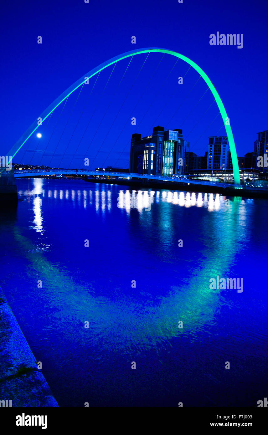 Newcastle upon Tyne quayside early evening Stock Photo