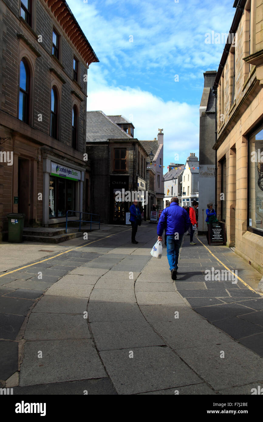 Albert Street Kirkwall Orkney Islands Scotland UK - Stock Image